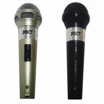 Par de Microfones com Fio 3 Metros Plástico Preto/Prata M-201 - MXT - MXT