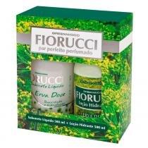 Par Perfeito Perfumado Erva Doce Fiorucci - Kit Sabonete Líquido 500ml + Loção Hidratante 500ml - Fiorucci