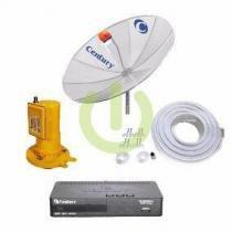 Parabólica Digital 1,70 tela Com Receptor Digital Midia Box B3 Hd e Monoponto Completa - Century -