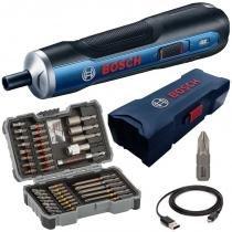 Parafusadeira à Bateria 3,6V BOSCH GO BIVOLT + Jogo de Bits, Pontas e Soquetes 43 Peças BOSCH -