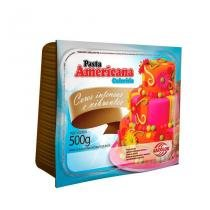 Pasta Americana Colorida 500g Arcolor - Azul Piscina - festabox