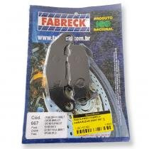 Pastilha freio fabreck kawasaki/suzuki dianteira 667 - Fabreck