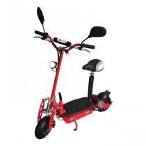 Patinete elétrico e-scooter 1000w dobrável com assento removível bz top cor vermelho - barzi motors - Barzi motors