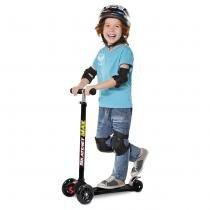 Patinete Skatenet Max 3 Rodas com Regulagem de Altura Preto 341 - Bandeirante - Bandeirante