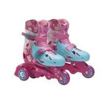 Patins ajustaveis barbie 3 rodas com acessorios 29/32 fun 7785-5 - Fun