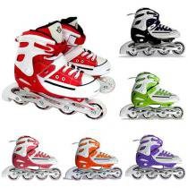 Patins All Star Style Street Rollers - Tamanho G 36-39 Br - Vermelho - Bel Fix