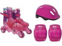 Patins Barbie 7785-5 Nº 29 ao 32 com Acessórios  - Fun