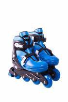 Patins roller in-line radical ajustável azul (g 36-39) - 36/39 - Bel sports