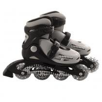 Patins roller in-line radical ajustável cinza (p 28-31) - 28/31 - Bel sports