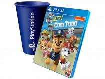 Patrulha Canina para PS4 - Outright Games + Copo PlayStation Azul