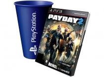 Pay Day 2 para PS3 - 505 Games + Copo PlayStation Azul