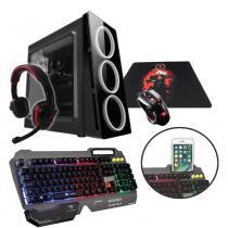 PC G-FIRE AMD A8 9600 3.4 GHz 8 GB 1 TB Radeon R7 900 MHz integrada Computador Gamer GKM HTG-236 -