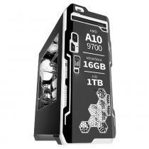 PC Gamer AMD Quad Core 3.5ghz A10 9700 16GB HD 1TB 500W Radeon R7 Séries 2GB 128 bits 3green - 3green technology