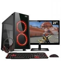 Pc gamer com monitor 18 amd quad core a8 7600 8gb hyperx hd 1tb radeon r7 3green titan - Bel micro