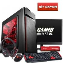 Pc gamer com monitor 18 amd quad core a8 7650k 8gb hyperx hd 1tb radeon r7 3green titan - Bel micro