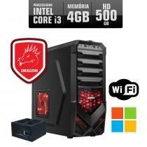 Pc Gamer Dragon I3 4gb 500gb Windows Wifi - Premium