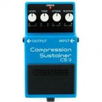 Pedal para guitarra Boss CS-3 com Controles Level, Tone, Attack e Sustain - Boss