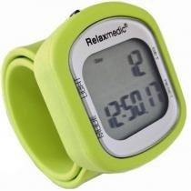 Pedômetro Color Motion Contador de Passos e Calorias 07 Funções Relaxmedic Verde - RELAXMEDIC