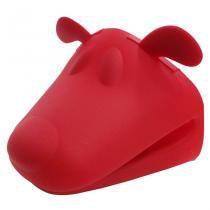 Pegador de panela cachorro de silicone vermelho / niazitex - Niazitex