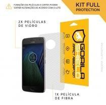 Película de Vidro Dupla + Traseira fibra de carbono para Moto G5 Plus - Gorila Shield -