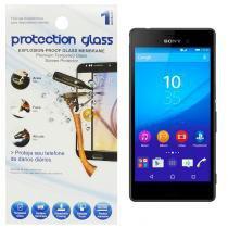 Película Protetora de Vidro Lisa para Smartphone Sony Xperia M4 Protecction Glass - ADIBRAS
