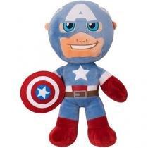 Pelúcia Marvel Capitão América 41cm - Buba Toys