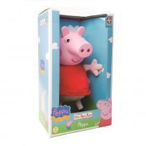 Pelúcia Peppa Pig Cabeça de Vinil 40 cm - Estrela