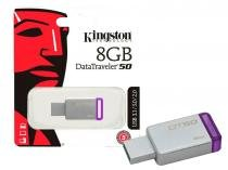 Pen drive 08gb dt50 3.1/3.0/2.0 kingston roxo -