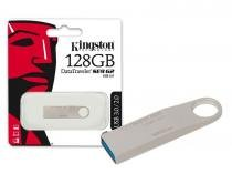 Pen Drive 128GB USB 3.0 Kingston DTSE9G2/128GB Datatraveler SE9 G2 Prata -