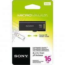 Pen Drive 16GB Flash USB USM16GR/BM Preto SONY - 16GB - Preto - Sony