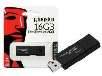 Pen Drive 16GB USB 3.0 Kingston DT100G3/16GB Datatraveler 100 Generation 3 -