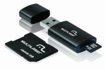 Pen Drive 3 em 1 USB MicroSD Card c/ Adaptador SD 32GB Multi - Multilaser