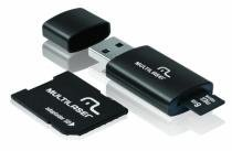 Pen Drive 3 em 1 USB MicroSD Card c/ Adaptador SD 8GB Multil - Multilaser