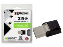 Pen Drive 32GB Smartphone Kingston DTDUO3/32GB DT Micro Duo USB e Micro USB 3.0 OTG -