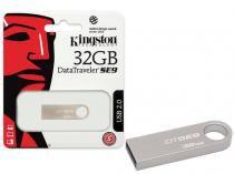 Pen Drive 32GB  USB 2.0 Kingston DTSE9H/32GBZ Datatraveler SE9 Prata -