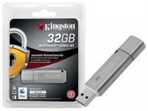 Pen Drive 32GB USB 3.0 Criptografia Kingston DTLPG3/32GB Datatraveler Locker+ G3 -