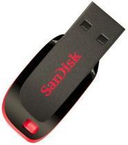 Pen Drive 64 GB Sandisk Cruzer Blade SDCZ50-064G-B35 USB 2.0 Preto -