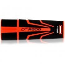 Pen Drive 64GB Memória DTR500 Preto e Laranja Kingston BPN-104 -