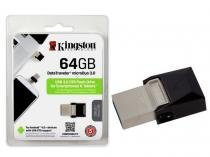 Pen Drive 64GB Smartphone Kingston DTDUO3/64GB DT Micro Duo USB e Micro USB 3.0 OTG -