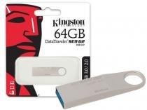 Pen Drive 64GB USB 3.0 Kingston DTSE9G2/64GB Datatraveler SE9 G2 Prata -