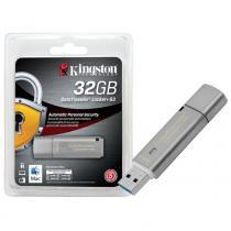 Pen Drive Criptografia Kingston 32GB Datatraveler Locker+ G3 USB 3.0 Prata - DTLPG3/32GB -