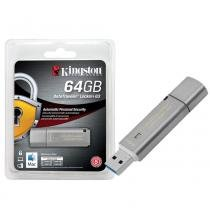 Pen Drive Criptografia Kingston 64GB Datatraveler Locker+ G3 USB 3.0 Prata - DTLPG3/64GB -