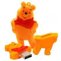 Pen Drive  do Ursinho Pooh Mãos na Cintura 4 ou 8 GB - Mega empório