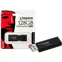 Pen Drive Kingston 128GB Datatraveler 100 G3 USB 3.0 Preto -