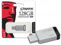 Pen Drive Kingston 128GB DATATRAVELER 50 128GB METAL PRETO USB 3.1 DT50 -