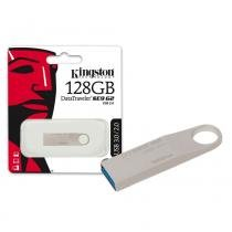 Pen Drive Kingston 128GB Datatraveler SE9 G2 USB 3.0 Prata - DTSE9G2/128GB -