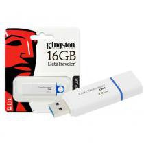 Pen Drive Kingston 16GB Datatraveler G4 USB 3.0 Branco e Azul -