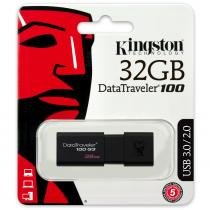 Pen Drive Kingston 32GB Datatraveler 100 Generation 3 USB3.0 Preto -