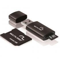 Pen Drive Multilaser 16GB 3 em 1 com Cartão de Memória e Adaptador MC112 -