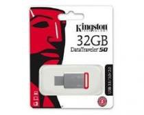 Pen Drive USB 3.1 Kingston DT50/32GB Datatraveler 50 32GB Metal Vermelho -